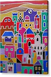 Colorful Town Of Guanajuato Mexico Acrylic Print by Pristine Cartera Turkus