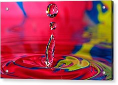 Colorful Water Drop Acrylic Print