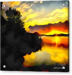 Colors At The Lake Acrylic Print