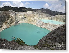 Colourful Crater Lakes Of Kelimutu Acrylic Print by Richard Roscoe