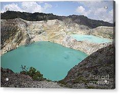 Colourful Crater Lakes Of Kelimutu Acrylic Print by Richard Roscoe