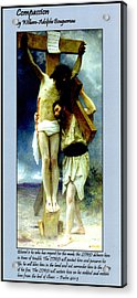 Compassion Acrylic Print by William Bouguereau