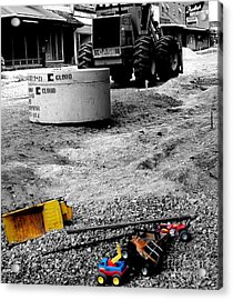 Construction Site Acrylic Print by   Joe Beasley