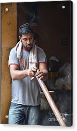 Acrylic Print featuring the photograph Cooking Breakfast Early Morning Lahore Pakistan by Imran Ahmed