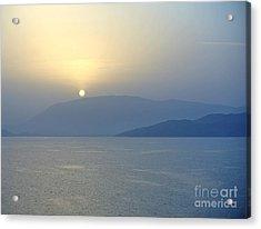 Corfu Sunrise Acrylic Print by Sarah Christian