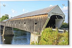 Cornish-windsor Covered Bridge  Acrylic Print by Edward Fielding