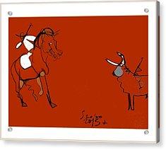 Corrida Equestre 2013 Acrylic Print by Peter Szabo