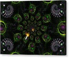 Acrylic Print featuring the digital art Cosmic Embryos by Shawn Dall