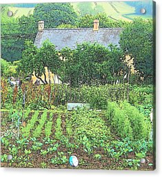 Country Cottage Acrylic Print by Jan Matson