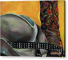 Cowgirl Necessities Acrylic Print by Frances Marino