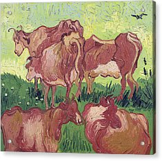 Cows Acrylic Print by Vincent Van Gogh