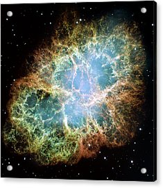 Crab Nebula Acrylic Print by Nasa