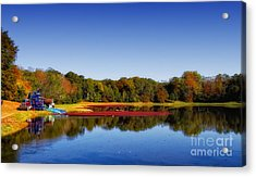 Acrylic Print featuring the photograph Cranberry Farming by Gina Cormier