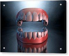 Creepy Teeth  Acrylic Print by Allan Swart
