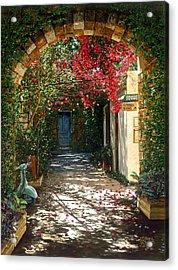 Crimson Canopy Acrylic Print by Doug Kreuger