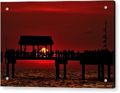 Acrylic Print featuring the photograph Crimson Sunset by Richard Zentner