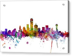 Dallas Texas Skyline Acrylic Print