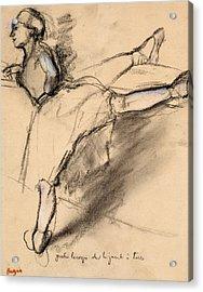 Dancer At The Bar Acrylic Print by Edgar Degas