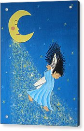 Dancing On Moonbeams Acrylic Print by Pamela Allegretto