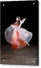 Dancing With Closed Eyes Acrylic Print
