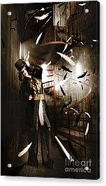 Dark Fashion Girl Making Magic And Mystery Wish Acrylic Print by Jorgo Photography - Wall Art Gallery