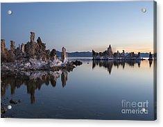 Dawn On Mono Lake Acrylic Print by Sandra Bronstein