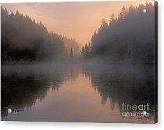 Dawn On The Yellowstone River Acrylic Print by Sandra Bronstein