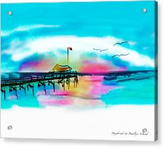 Acrylic Print featuring the digital art Daybreak At Pawleys Island by Frank Bright