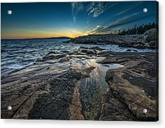 Day's End Acrylic Print by Rick Berk