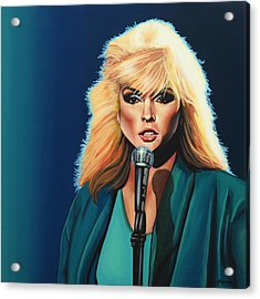 Deborah Harry Or Blondie Painting Acrylic Print by Paul Meijering