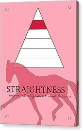 Define Straightness Acrylic Print by JAMART Photography