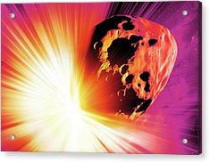 Deflecting A Near-earth Asteroid Acrylic Print by Detlev Van Ravenswaay