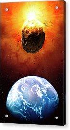 Deflecting A Near-earth Asteroid Acrylic Print