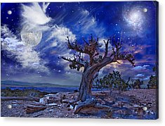 Acrylic Print featuring the digital art Desert by Bruce Rolff