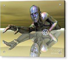Desperation Acrylic Print by Sandra Bauser Digital Art