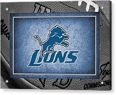 Detroit Lions Acrylic Print by Joe Hamilton