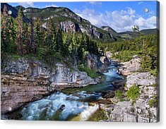 Devils Glen On The Dearborn River Acrylic Print by Chuck Haney