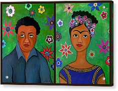 Diego And Frida Acrylic Print by Pristine Cartera Turkus