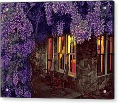 Beneath The Wisteria Acrylic Print by Douglas MooreZart