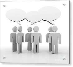 Discussion Blank Speech Bubbles Acrylic Print by Michal Bednarek