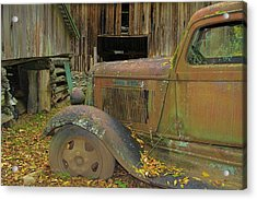 Dodge In The Country Fall Colors Acrylic Print by Dan Sproul