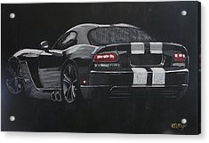 Acrylic Print featuring the painting Dodge Viper 1 by Richard Le Page