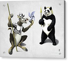 Donkey Xote And Sancho Panda Wordless Acrylic Print