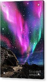 Dramatic Aurora Acrylic Print by Atiketta Sangasaeng