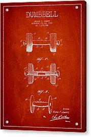 Dumbbell Patent Drawing From 1927 Acrylic Print