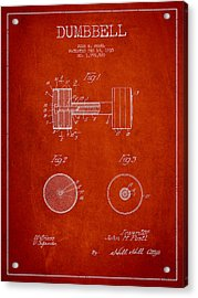 Dumbbell Patent Drawing From 1935 Acrylic Print