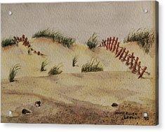 Dunes Acrylic Print by Mary Ellen Mueller Legault