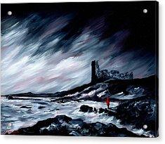 Dunure Red Coat Acrylic Print by J P McLaughlin