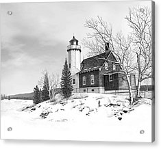 Eagle Harbor Lighthouse Acrylic Print by Darren Kopecky