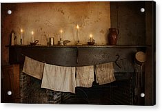 By Candle Light Acrylic Print by Robin-Lee Vieira